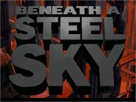 Title screen of Beneath a Steel Sky on the ScummVM.