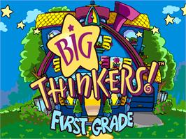 Title screen of Big Thinkers! First Grade on the ScummVM.
