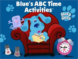 Title screen of Blue's Clues: Blue's ABC Time Activities on the ScummVM.