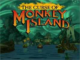 Title screen of Curse of Monkey Island on the ScummVM.