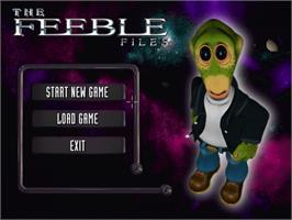 Title screen of Feeble Files on the ScummVM.
