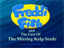 Title screen of Freddi Fish: The Case of the Hogfish Rustlers of Briny Gulch on the ScummVM.