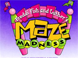 Title screen of Freddi Fish and Luther's Maze Madness on the ScummVM.