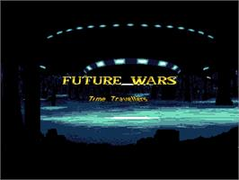 Title screen of Future Wars on the ScummVM.