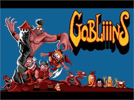 Title screen of Gobliiins on the ScummVM.