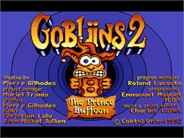 Title screen of Gobliins 2: The Prince Buffoon on the ScummVM.