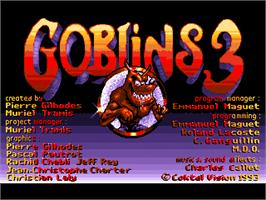Title screen of Goblins Quest 3 on the ScummVM.