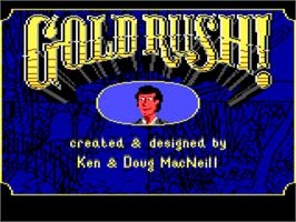 Title screen of Gold Rush on the ScummVM.