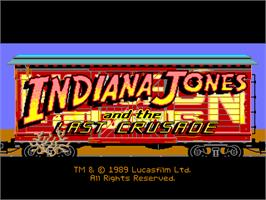 Title screen of Indiana Jones and the Last Crusade on the ScummVM.