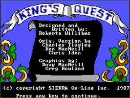 Title screen of King's Quest I: Quest for the Crown on the ScummVM.