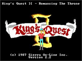 Title screen of King's Quest II: Romancing the Throne on the ScummVM.