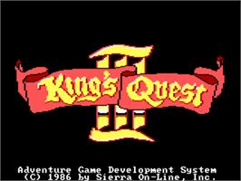 Title screen of King's Quest III: To Heir is Human on the ScummVM.