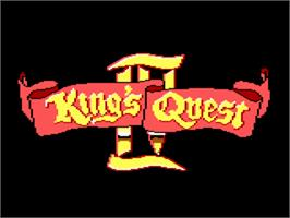 Title screen of King's Quest IV: The Perils of Rosella on the ScummVM.