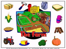 Title screen of Let's Explore the Farm with Buzzy on the ScummVM.