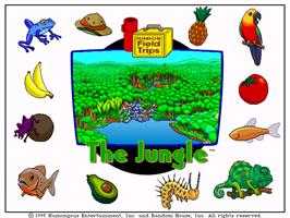 Title screen of Let's Explore the Jungle with Buzzy on the ScummVM.