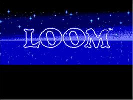 Title screen of Loom on the ScummVM.