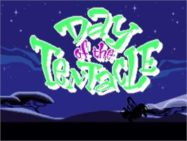 Title screen of Maniac Mansion: Day of the Tentacle on the ScummVM.