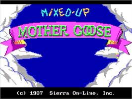 Title screen of Mixed-Up Mother Goose on the ScummVM.