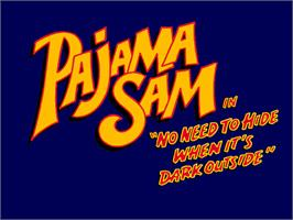 Title screen of Pajama Sam: Thunder and Lightning aren't so Frightening on the ScummVM.