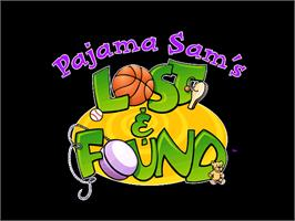 Title screen of Pajama Sam's Lost & Found on the ScummVM.