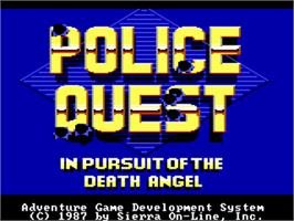 Title screen of Police Quest: In Pursuit of the Death Angel on the ScummVM.