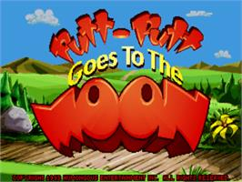 Title screen of Putt-Putt Goes to the Moon on the ScummVM.