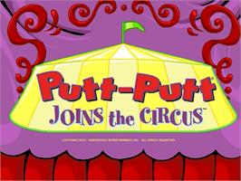 Title screen of Putt-Putt Joins the Circus on the ScummVM.