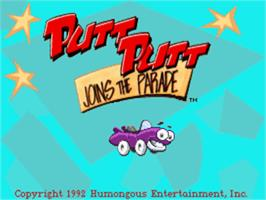 Title screen of Putt-Putt Joins the Parade on the ScummVM.