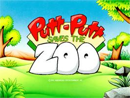 Title screen of Putt-Putt Saves the Zoo on the ScummVM.