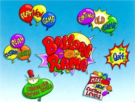 Title screen of Putt-Putt and Pep's Balloon-o-Rama on the ScummVM.