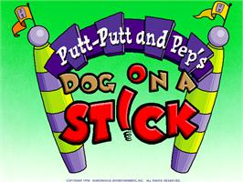 Title screen of Putt-Putt and Pep's Dog on a Stick on the ScummVM.