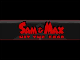 Title screen of Sam & Max Hit the Road on the ScummVM.