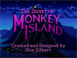 Title screen of Secret of Monkey Island on the ScummVM.