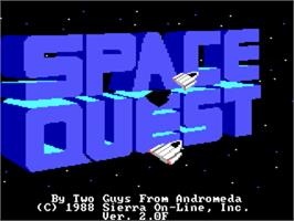 Title screen of Space Quest II: Vohaul's Revenge on the ScummVM.