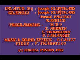 Title screen of Ween: The Prophecy on the ScummVM.