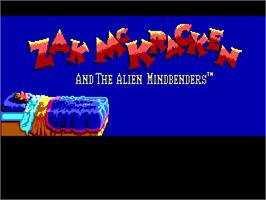 Title screen of Zak McKracken and the Alien Mindbenders on the ScummVM.