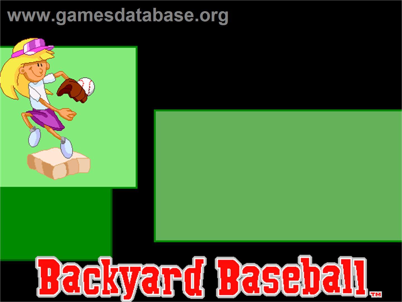 title screen of backyard baseball on the scummvm