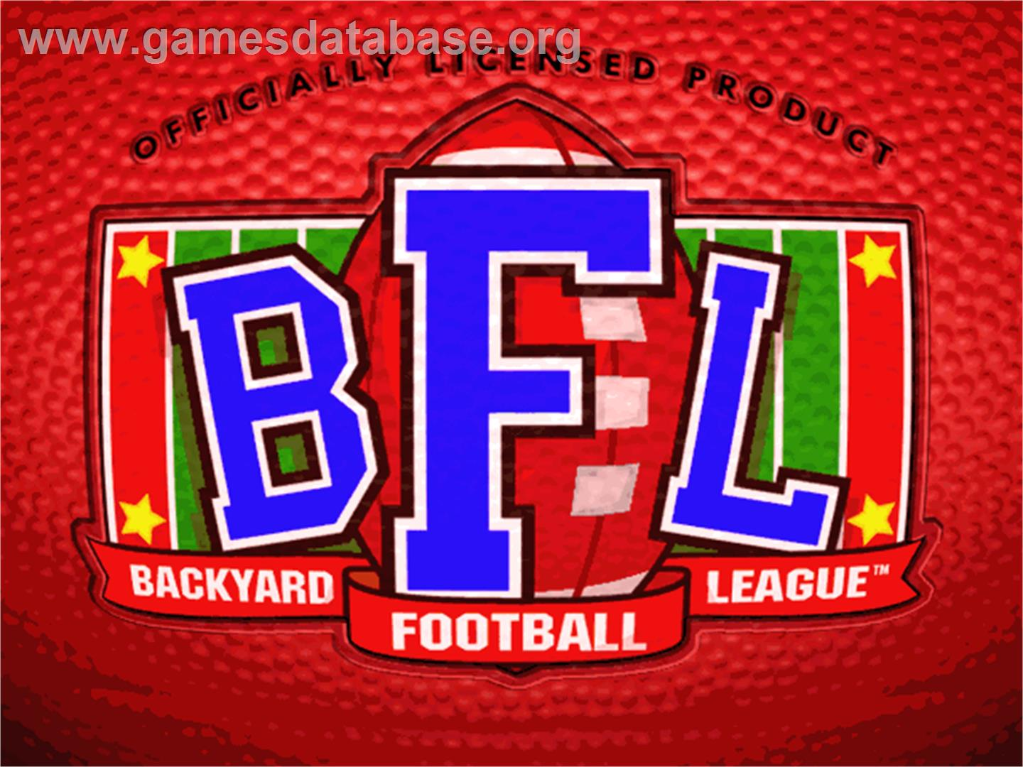 backyard football league logo from backyard football game sports