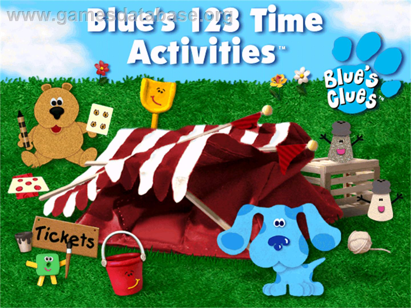 Blue's Clues: Blue's 123 Time Activities - ScummVM - Artwork - Title Screen