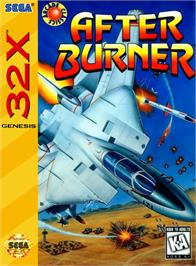 Box cover for After Burner on the Sega 32X.