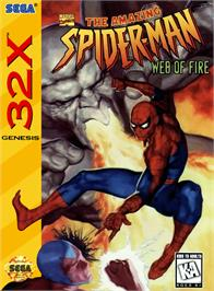Box cover for Amazing Spider-Man: Web of Fire on the Sega 32X.