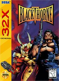 Box cover for Blackthorne on the Sega 32X.