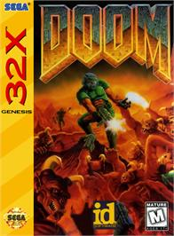 Box cover for Doom on the Sega 32X.