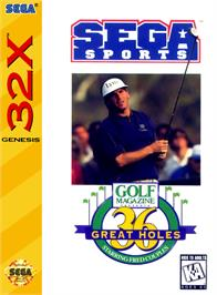 Box cover for Golf Magazine: 36 Great Holes Starring Fred Couples on the Sega 32X.