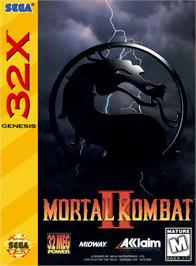 Box cover for Mortal Kombat II on the Sega 32X.