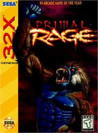 Box cover for Primal Rage on the Sega 32X.
