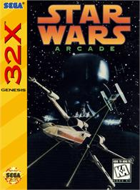 Box cover for Star Wars Arcade on the Sega 32X.