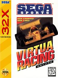 Box cover for Virtua Racing Deluxe on the Sega 32X.