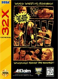 Box cover for WWF Raw on the Sega 32X.
