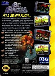 Box back cover for BC Racers on the Sega 32X.